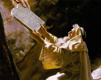 The Golden Legend: The Ten Commandments in the bible given to Moses