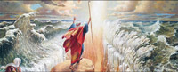 The Golden Legend: The bible Story of Moses, a prophet who parted the red sea