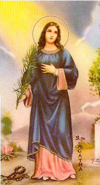 St Agatha Catholic Church Biography: Saint Agatha Martyrdom, Home, Prayer, Life and Medal