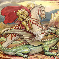St George and the Dragon Story Saint Georges Day Church Biography