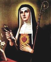 St Gertrude the Great Biography Church Saint Gertrude Prayer Patron St